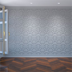 Brownsville Decorative Fretwork Wall Panels in Architectural Grade PVC