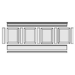 RPW-KIT Raised Panel Wainscot Paneling