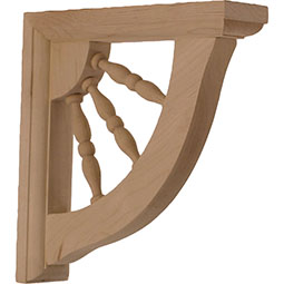 Andrea Wagon Wheel Wood Bracket