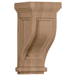 Traditional Recessed Wood Corbel