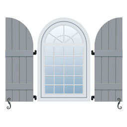 RBBA Arch Top Shutters