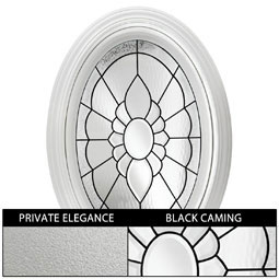 DF2436FLORPEBK Decorative Windows
