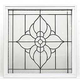 DF2626SPFLBK Decorative Glass Windows