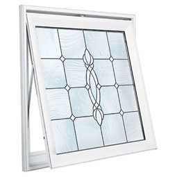 DA2929CRFTBK Decorative Glass Windows
