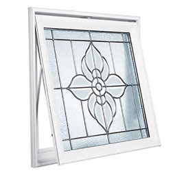 DA2929SPFLBK Decorative Glass Windows