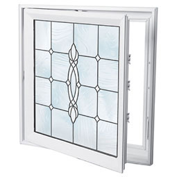 DC2929CRFTBK Decorative Glass Windows