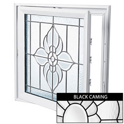 DC2929SPFLBK Decorative Glass Windows