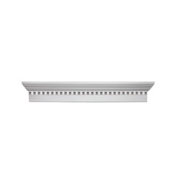 "WCH80.5X6D Fypon 6"" Crossheads w/Dentil Trim"