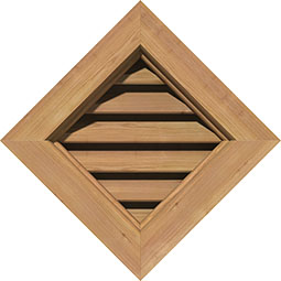 GVWDI Wood Louvers and Gable Vents