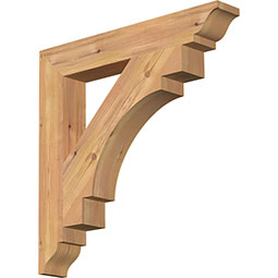 Merced Rustic Timber Wood Bracket