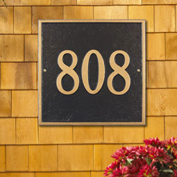 WH2110 Address Plaques