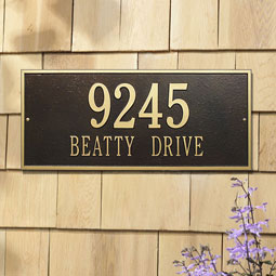 WH1325 Address Plaques