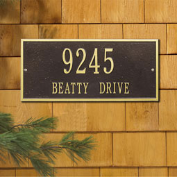 WH1321 Address Plaques