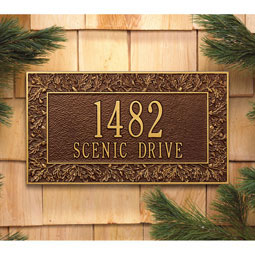 WH1457 Address Plaques