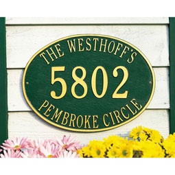 WH2920 Address Plaques
