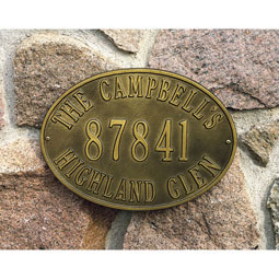 WH2918 Address Plaques