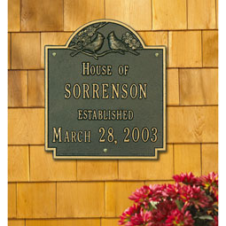 WH2206 Address Plaques