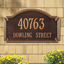 WH1295 Address Plaques