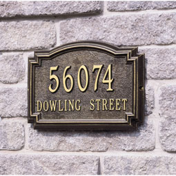 WH1291 Address Plaques