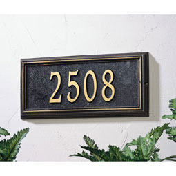 WH1312 Address Plaques