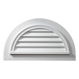 Fypon half round gable vents fypon vents shop diy for Fypon gable decorations