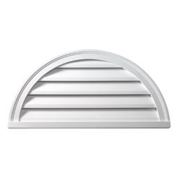 HRLV48X24 Fypon Half Round Gable Vents