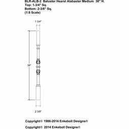 BLR-ALB-2 Balusters