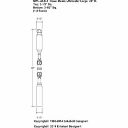 NWL-ALB-3 Newel Posts