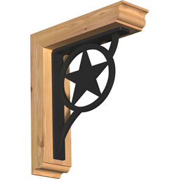 BKTIAU01 Ironcrest Wood & Metal Brackets