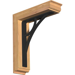 Galveston Traditional Ironcrest Rustic Timber Wood Bracket