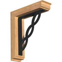 Loera Traditional Ironcrest Rustic Timber Wood Bracket