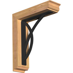 Miller Traditional Ironcrest Rustic Timber Wood Bracket