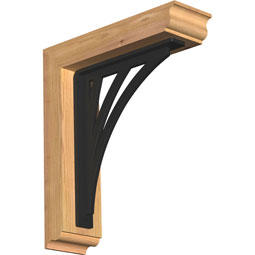 Nevio Traditional Ironcrest Rustic Timber Wood Bracket