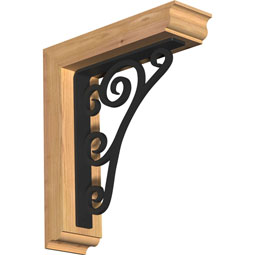 Tristan Traditional Ironcrest Rustic Timber Wood Bracket