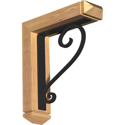 BKTIED03 Ironcrest Wood & Metal Brackets