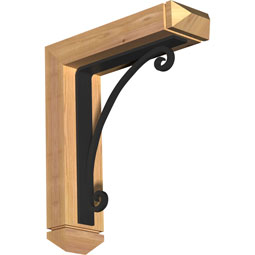 Legacy Arts & Crafts Ironcrest Rustic Timber Wood Bracket