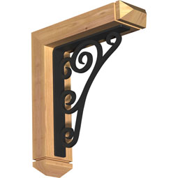 Tristan Arts & Crafts Ironcrest Rustic Timber Wood Bracket