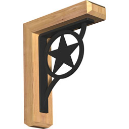BKTIAU04 Ironcrest Wood & Metal Brackets