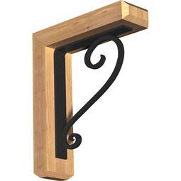BKTIED04 Ironcrest Wood & Metal Brackets
