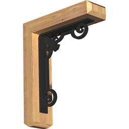 BKTIFL04 Ironcrest Wood & Metal Brackets