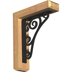 Tristan Craftsman Ironcrest Rustic Timber Wood Bracket