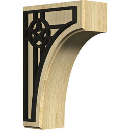 BKTWCVAU Wood Brackets w/ Ironcraft Inlays