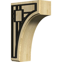 BKTWCVBR Wood Brackets w/ Ironcraft Inlays