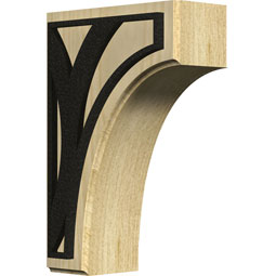 BKTWCVCE Wood Brackets w/ Ironcraft Inlays