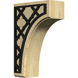 BKTWCVFL Wood Brackets w/ Ironcraft Inlays
