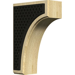BKTWCVLA Wood Brackets w/ Ironcraft Inlays