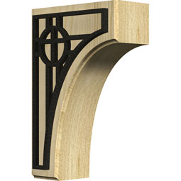 BKTWCVOS Wood Brackets w/ Ironcraft Inlays