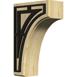 BKTWCVTR Wood Brackets w/ Ironcraft Inlays