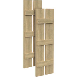 SH2P3B Rough Sawn Shutters