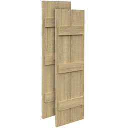 SH2P3BC Rough Sawn Shutters
